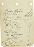 Autographs:Others, 1927 Philadelphia Athletics Team Signed Album Pages. Vintageautograph collecting at its essence. Provided for your hobby ...
