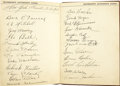 Autographs:Others, Early 1930's Autograph Album Signed by Giants, Pirates, Cubs & Cardinals. One young New York City baseball fan made fine us...