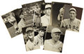 Baseball Collectibles:Photos, 1920's Major League Baseball Player Photographs by Conlon Lot of 9....