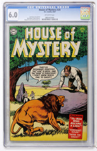 House of Mystery #29 (DC, 1954) CGC FN 6.0 Off-white pages
