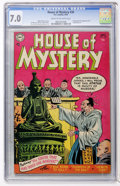 Golden Age (1938-1955):Horror, House of Mystery #30 (DC, 1954) CGC FN/VF 7.0 Cream to off-whitepages....