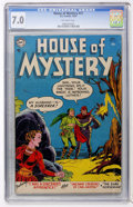 Golden Age (1938-1955):Horror, House of Mystery #31 (DC, 1954) CGC FN/VF 7.0 Off-white pages....