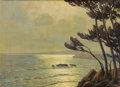 Fine Art - Painting, European:Modern  (1900 1949)  , ARSÈNE CHABANIAN (French, 1864-1949). Moonlight in theVillefranche Bay. Oil on canvas. 23-3/4 x 31-3/4 inches (60.3 x8...