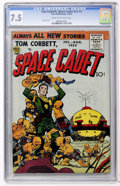 Golden Age (1938-1955):Science Fiction, Tom Corbett, Space Cadet V2#2 (Prize, 1955) CGC VF- 7.5 Cream tooff-white pages....