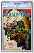 Golden Age (1938-1955):War, Our Army at War #28 (DC, 1954) CGC FN+ 6.5 Off-white pages....