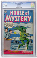 Golden Age (1938-1955):Horror, House of Mystery #32 (DC, 1954) CGC FN/VF 7.0 Off-white pages....