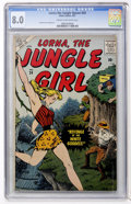 Silver Age (1956-1969):Adventure, Lorna The Jungle Girl #24 (Atlas, 1957) CGC VF 8.0 Cream to off-white pages....