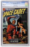 Golden Age (1938-1955):Science Fiction, Tom Corbett Space Cadet #10 (Dell, 1954) CGC VF+ 8.5 Off-white towhite pages....