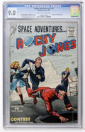 Golden Age (1938-1955):Science Fiction, Space Adventures #16 (Charlton, 1955) CGC VF/NM 9.0 Cream tooff-white pages....