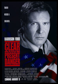 """Clear and Present Danger (Paramount, 1994). One Sheet (27"""" X 40"""") DS. Thriller"""