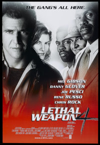 """Lethal Weapon 4 (Warner Brothers, 1998). One Sheet (27"""" X 40"""") DS. Action"""
