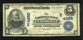 National Bank Notes:Pennsylvania, Claysville, PA - $5 1902 Date Back Fr. 593 The NB of Claysville Ch. # (E)4255. ...
