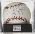 "Autographs:Baseballs, Orlando Cepeda ""HOF 99"" Single Signed Baseball PSA Gem Mint 10.Absolutely unimprovable single comes to us here by way of Ha..."