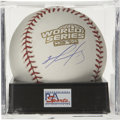 Autographs:Baseballs, David Ortiz Single Signed Baseball PSA Mint 9 Official 2004 WorldSeries orb that we see here acts a the perfect canvas for ...