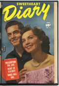 Golden Age (1938-1955):Romance, Sweetheart Diary #2 and 3 Bound Volume (Fawcett, 1950)....