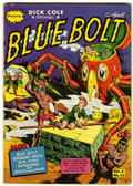 Golden Age (1938-1955):Science Fiction, Blue Bolt V2#11 (Novelty Press, 1942) Condition: FN-....