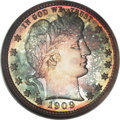Proof Barber Quarters, 1909 25C PR68 ★ NGC....