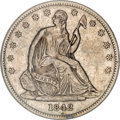Seated Half Dollars, 1842-O 50C Small Date, Small Letters--Reverse Scratched--NCS. XFDetails....