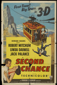 "Second Chance (RKO, 1953). One Sheet (27"" X 41"") 3-D Style. Thriller"