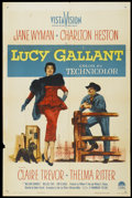 "Movie Posters:Drama, Lucy Gallant (Paramount, 1955). One Sheet (27"" X 41""). Drama...."