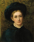 Fine Art - Painting, European:Antique  (Pre 1900), MACARTHEY (19th Century). Portrait of a Lady in a Green Hat.Oil on board. 21 x 17 inches (53.3 x 43.2 cm). Signed lower...