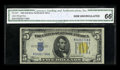 Small Size:World War II Emergency Notes, Fr. 2307 $5 1934A North Africa Silver Certificate. CGA Gem Uncirculated 66.. ...