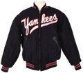 """Autographs:Others, Early 1990's Mickey Mantle Signed Jacket. Fine replica by the """"Mitchell & Ness Cooperstown Collection"""" is a dead ringer for ..."""