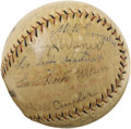Autographs:Baseballs, 1928 Chicago Cubs & Pittsburgh Pirates Signed Baseball withHack Wilson, Ki Ki Cuyler. Some very tough prewar legends make ...
