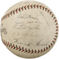 Autographs:Baseballs, 1928 St. Louis Cardinals Team Signed Baseball. Another NationalLeague Championship for perhaps the greatest dynasty in St....