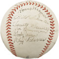 Autographs:Baseballs, 1937 Pittsburgh Pirates Partial Team Signed Baseball with Wagner& Vaughan. Though just eleven autographs inhabit the pearl...