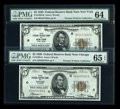 Small Size:Federal Reserve Bank Notes, Fr. 1850-B $5 1929 Federal Reserve Bank Note PMG Choice Unc 64. Fr. 1850-G $5 1929 Federal Reserve Bank Note PMG Gem Unc 65 EP... (Total: 4 notes)