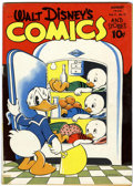 Golden Age (1938-1955):Cartoon Character, Walt Disney's Comics and Stories #35 (Dell, 1943) Condition:VG-....