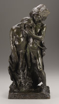 Bronze:American, CHARLES HENRY HUMPHRISS (American, 1867-1934). A Friend inNeed . Bronze. Signed on base: C.H. Humphriss. Foundrym...