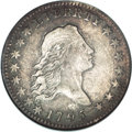 Early Half Dollars, 1795 50C 2 Leaves--Scratched--ANACS. Fine Details. ...