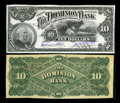 Canadian Currency: , Toronto, ON- The Dominion Bank $10 July 1, 1898 Ch. # 220-14-04P Face and Back Proofs. ... (Total: 2 notes)