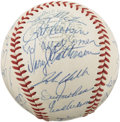 "Autographs:Baseballs, 1968 Detroit Tigers Team Signed Baseball. It was known as ""The Yearof the Pitcher"" for the dominance of such legends as Bob..."