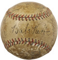 Autographs:Baseballs, 1933 New York Yankees Team Signed Baseball. The second to last year for the historic Hall of Fame pairing of Ruth and Gehri...