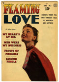 Golden Age (1938-1955):Romance, Flaming Love #3 (Quality, 1950) Condition: FN-....
