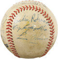 Autographs:Baseballs, 1949 Brooklyn Dodgers Team Signed Baseball. Almost as if they couldread the minds of twenty-first century collectors, the ...