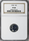Proof Roosevelt Dimes: , 1958 10C PR68 NGC. NGC Census: (130/39). PCGS Population (78/8).Mintage: 875,652. Numismedia Wsl. Price for NGC/PCGS coin ...