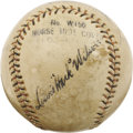 "Autographs:Baseballs, Circa 1930 Lewis ""Hack"" Wilson Single Signed Baseball. Althoughjust five-foot six inches tall, Wilson tipped the scales at..."