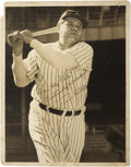 Autographs:Photos, 1940's Babe Ruth Signed Oversized Photograph.... (Total: 2 items)