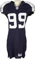 Football Collectibles:Uniforms, 2006 Chris Canty Game Worn Throwback Uniform. Tons of dirty, sweaty wear tells the story of fierce battles of the line of s...