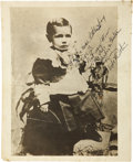 Autographs:Photos, 1940's Babe Ruth Signed Childhood Photograph. Marvelous image ofthe Babe as a babe is instantly recognizable as the future...