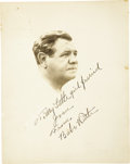 "Autographs:Photos, 1940's Babe Ruth Signed Portrait Photograph. From the ""Herby &Gertie"" collection of Babe Ruth signed photographs comes thi..."