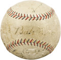 Autographs:Baseballs, 1928 New York Yankees Team Signed Baseball. The Murderer's RowYankees were at their homicidal height at the time this sphe...