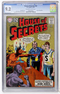 Silver Age (1956-1969):Horror, House of Secrets #58 (DC, 1963) CGC NM- 9.2 Off-white to whitepages....
