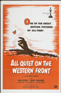 "Movie Posters:Academy Award Winner, All Quiet on the Western Front (Universal International, R-1950s).One Sheet (27"" X 41""). Academy Award Winner...."
