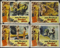 """Movie Posters:Adventure, Cannibal Attack (Columbia, 1954). Lobby Cards (4) (11"""" X 14"""").Adventure.... (Total: 4 Items)"""