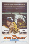 "Movie Posters:War, The Sea Chase (Warner Brothers, 1955). One Sheet (27"" X 41"").War...."